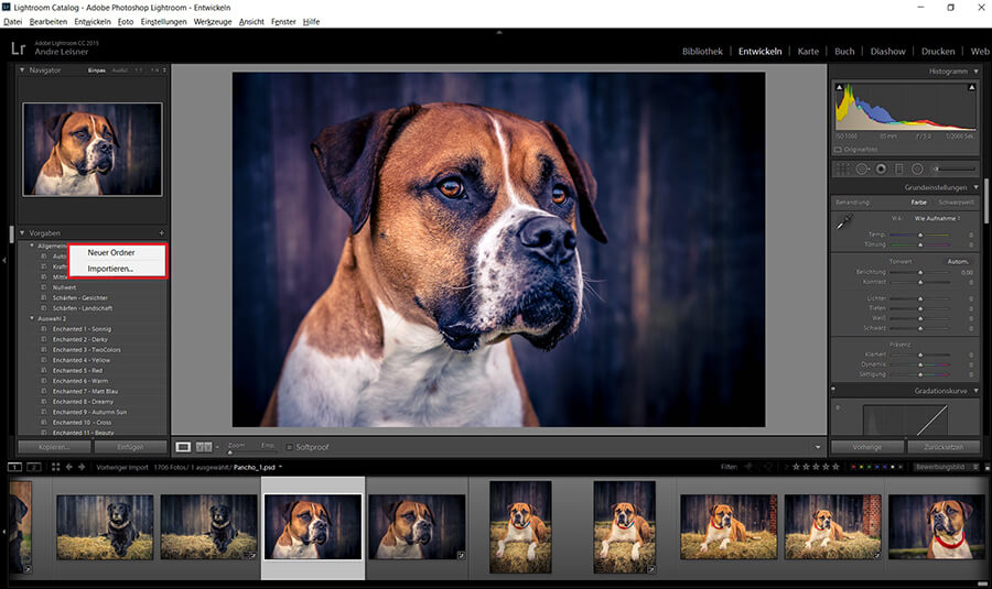 Ältere Lightroom Prests Versionen installieren