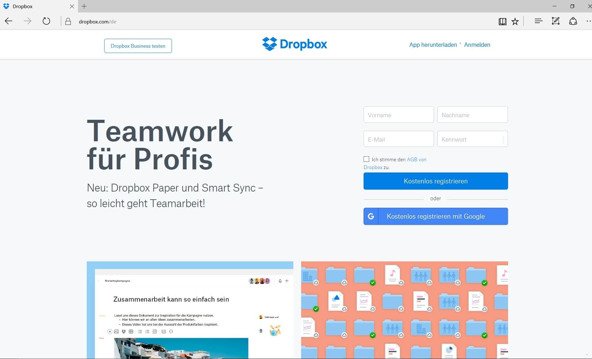 Dropbox für Fotografen
