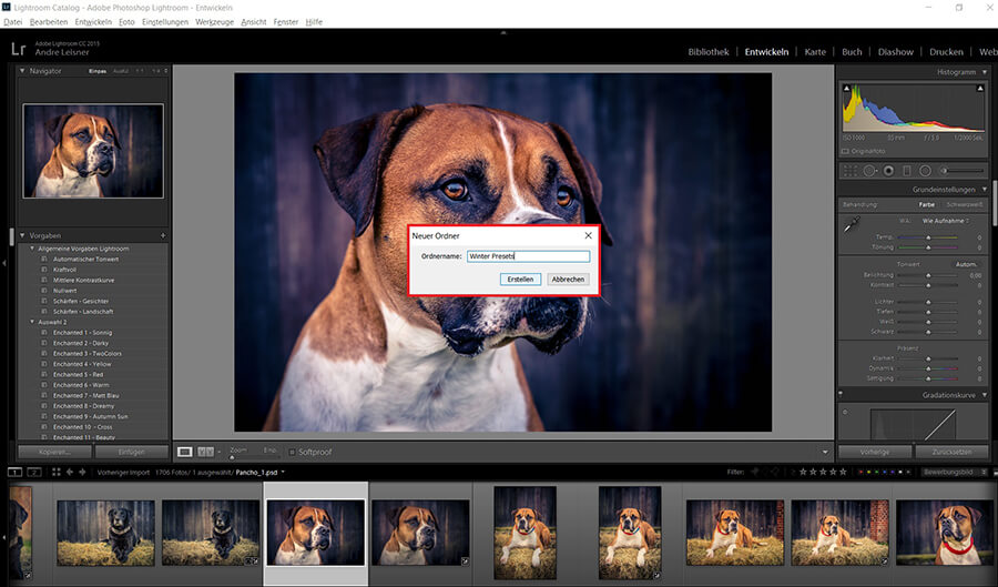 Lightroom Preset installieren
