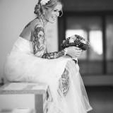 Brautkleid Brautstrauss
