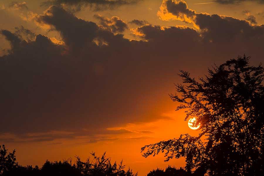 Blitzen in der Sonne - Gegenlicht