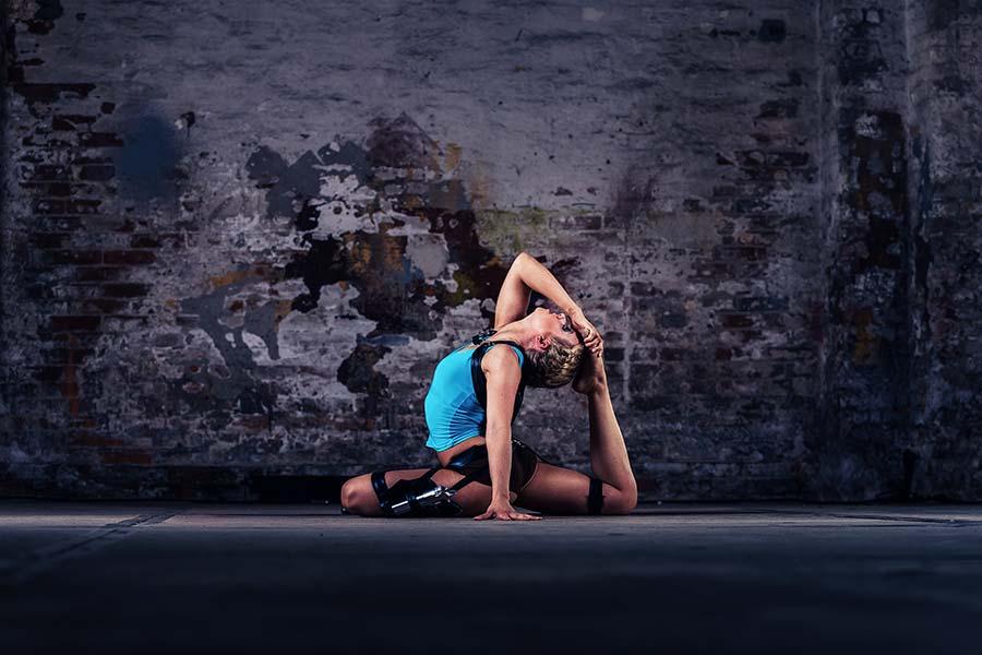 Akrobatik ohne Stange
