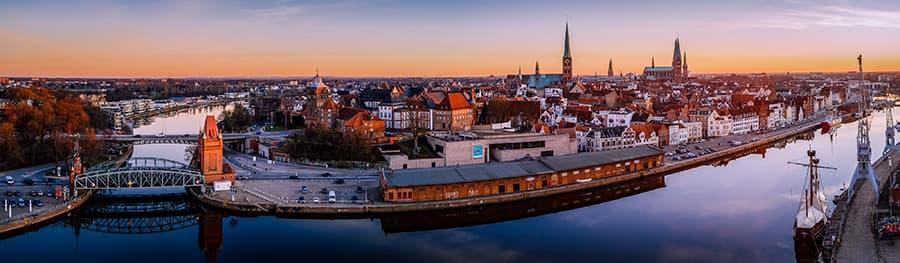 Drohnenfotografie aus Lübeck