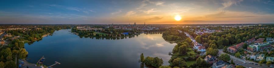 Hansestadt Lübeck als Panoramabild