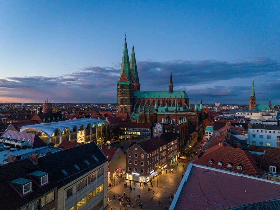 Drohnenaufnahme der Marienkirche