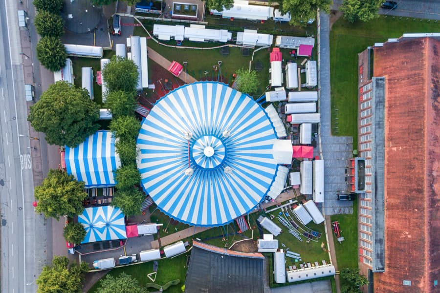 Circus Roncalli von oben