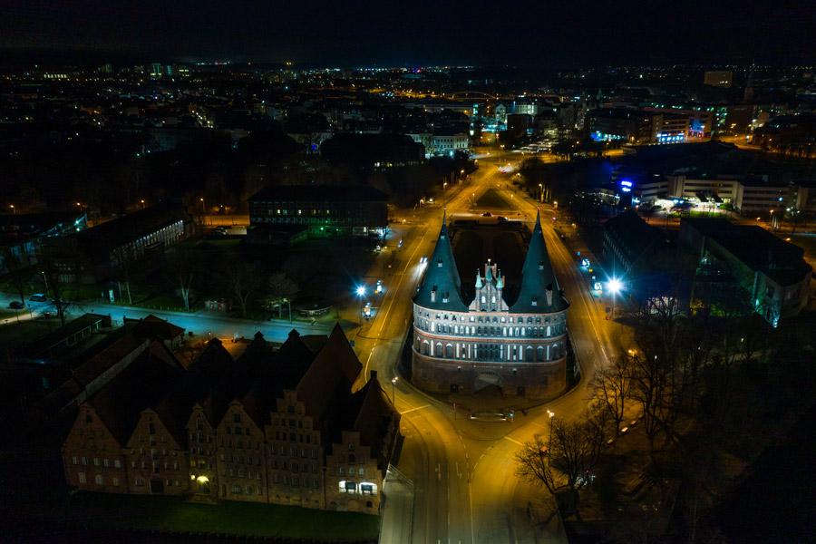 Nachtaufnahme Lübeck