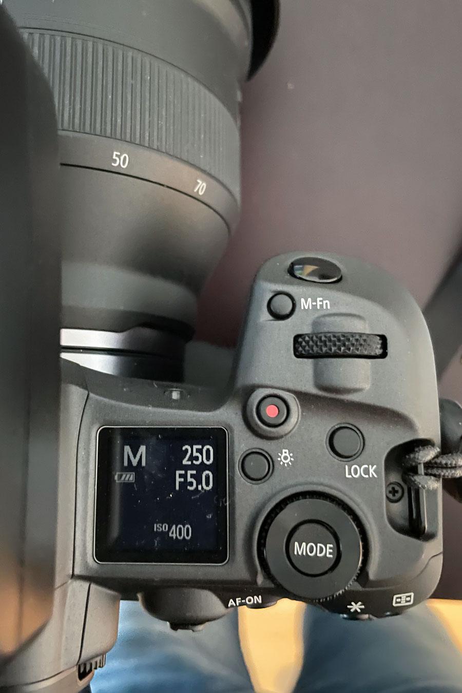 Umgewöhnung auf das neue Kamerasystem