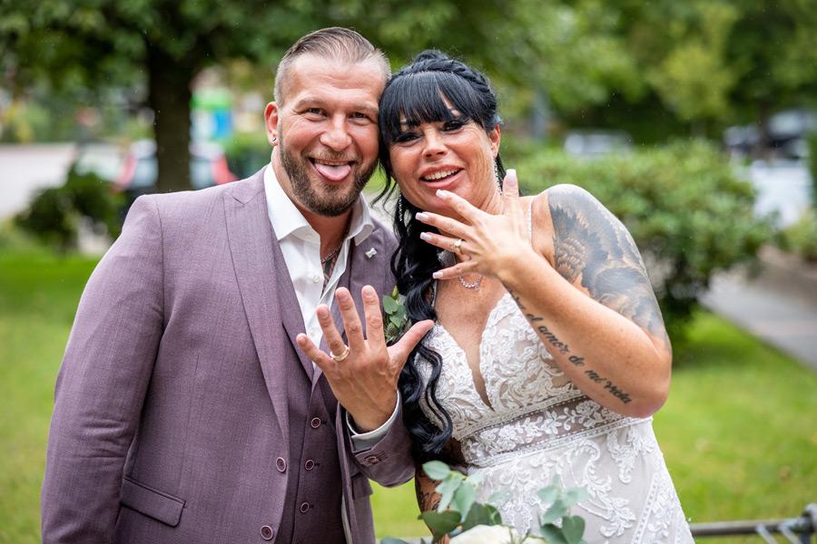 Spaß bei der Hochzeitsfotografie
